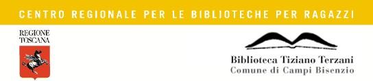 Imamgine del logo della Regione Toscana con il logo della Biblioteca comunale di Villa Montalvo