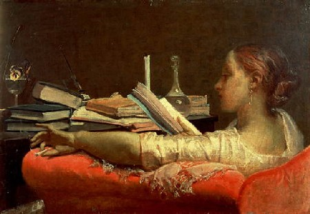 Dipinto di Faruffini - La lettrice