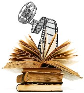 Libri e pellicola cinematografica