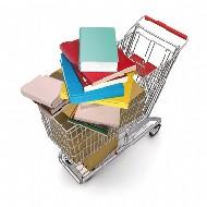 Carrello della spesa pieno di libri