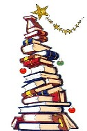 Libri impilati che formano un albero
