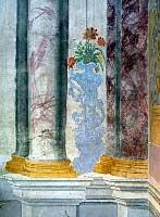 Particolare degli affreschi sulle pareti
