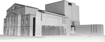 Prospetto del teatro Dante, immagine sintetica