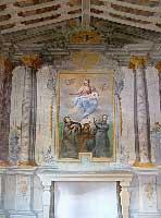 L'altare dell'oratorio della Madonna della Neve