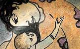 Particolare Maternit� 1987 Piatto, maiolica dipinta in policromia diam. cm 43