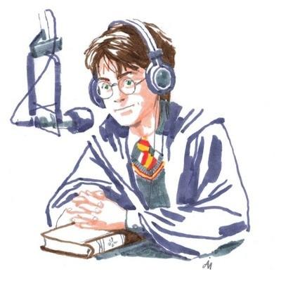 Disegno che raffigura Harry Potter intervistato