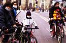 Cittadini ecologici in bicicletta