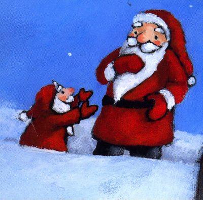 Piccolo Babbo Natale e suo padre